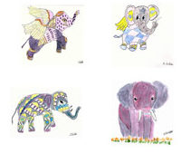 Shirley's Watercolor Elephants